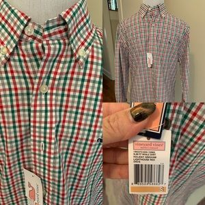 Men's Vineyard Vines Christmas Shirt sz S